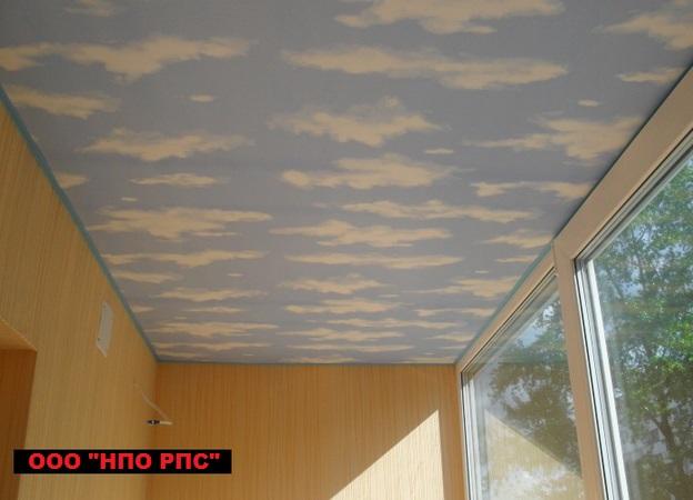 Натяжные потолки на балконе, фото, цены..